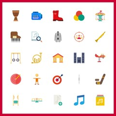 25 play icon. Vector illustration play set. rgb and sound system icons for play works