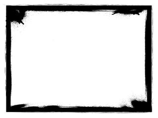 Grunge frame.Grunge black paint frame.Grunge ink frame made for your project.