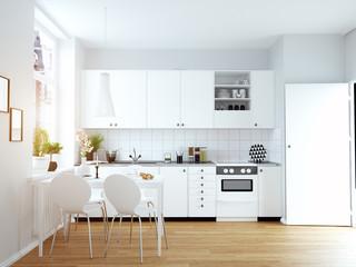 modern cozy kitchen interior