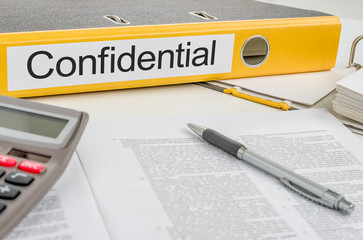 Folder with the label Confidential