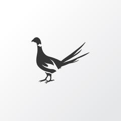 Pheasant icon symbol. Premium quality isolated phasianus element in trendy style.