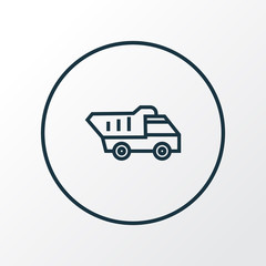 Truck icon line symbol. Premium quality isolated tipper element in trendy style.