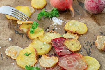 Vegan Organic Oven Baked Sliced Beets