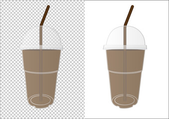Plastic cup for your design and logo.