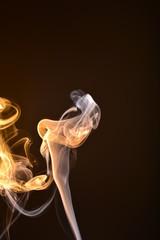 Fototapeta Kwiat z dymu - malowanie dymem obraz