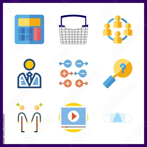 work icon  deal and medical mask vector icons in work set