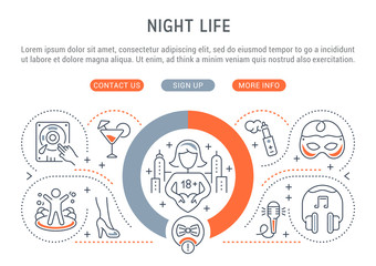 Vector Illustration of the Night Life.