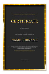 Luxury certificate or diploma template.