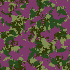 UFO camouflage of various shades of purple and green colors