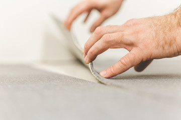 Methods of installation and tools used to install carpet ties - floor coverings