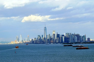 New York City skyline, view from New York Bay
