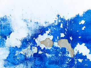 Wall blue abstract painting background