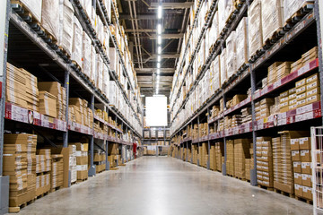 Racks in the warehouse