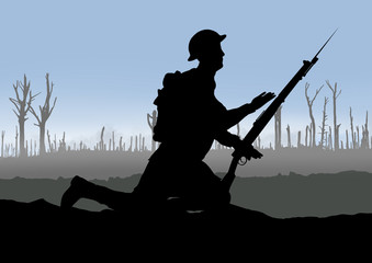 Vintage WW1 British Soldier.