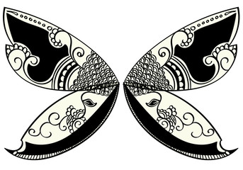 Henna Style Fairy or Butterfly Wings