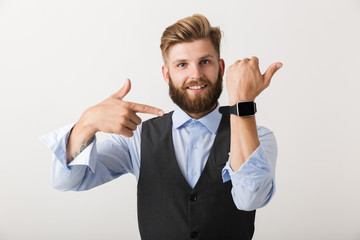 Portrait of a confident young bearded businessman
