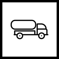Vector Tank Truck Icon