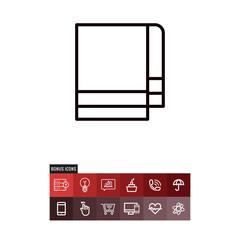 Towel vector icon