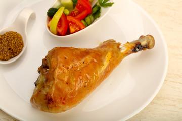 Roast turkey leg