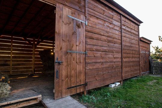 Barn at the ranch for storing hay