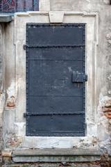 Iron door in Jewish section of Vienna, Austria