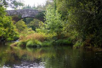 Medieval bridge in Furelos (Galicia, Spain)