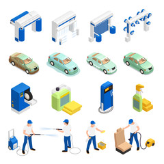 Carwash Icons Set