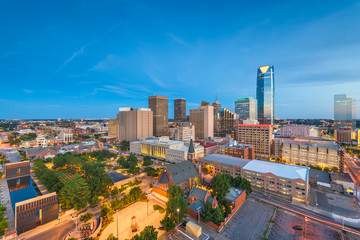 Oklahoma City, Oklahoma, USA downtown skyline