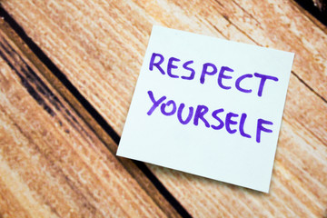 Handwritten Motivational Reminder to Value Oneself. Positive Message About Respect on a Note. Written Mantra for Self Love. Catchphrase to Boost Confidence