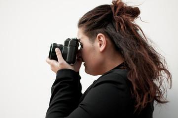 mujer fotografa