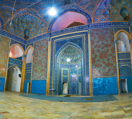 Interior decoration of Jameh Mosque, Yazd, Iran