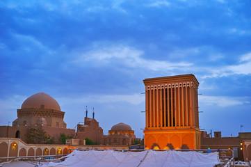 The old landmarks of Yazd, Iran