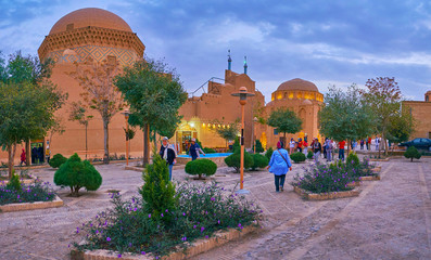 Enjoy the garden in old Yazd, Iran