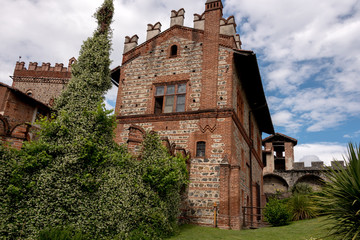 panoramic view of the various parts of the castle