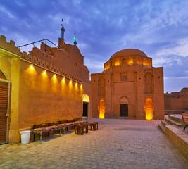 The teahouse at Twelve Imams Mausoleum, Yazd, Iran