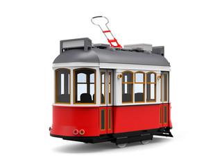 old tram cartoon back