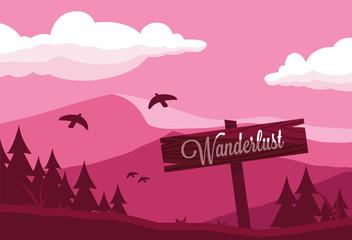 scene landscape with mountains wanderlust