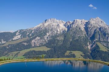 Fototapeta premium Jezioro magazynowe w pobliżu Leogang