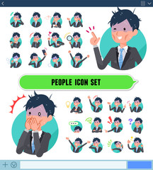 flat type Gray suit businessman Bad condition_icon