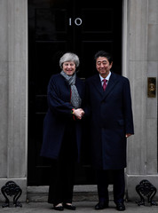 Britain's PM May meets Japan's PM Abe