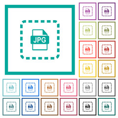 Place jpg file flat color icons with quadrant frames