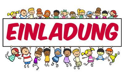Kinder auf Einladung zum Kindergeburtstag