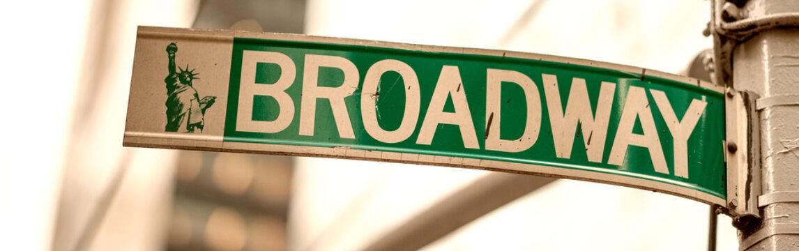 Broadway street sign in Manhattan