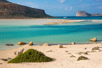 Balos beach on Crete island in Greece