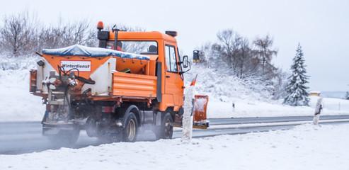 Panorama Winterdienst im Einsatz