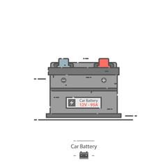 Car battery - Line color icon