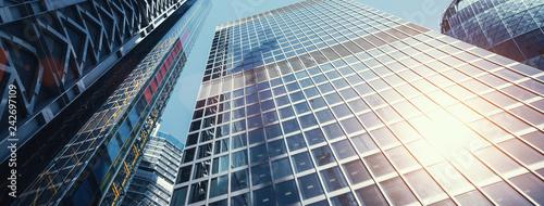 Wall mural modern office buildings skyscraper in London city