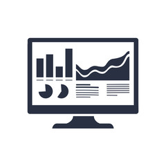 Analytics Monitor icon. Trendy flat vector Analytics Monitor icon on transparent background from Business analytics