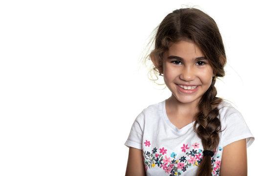 Portrait of a cute hispanic small girl