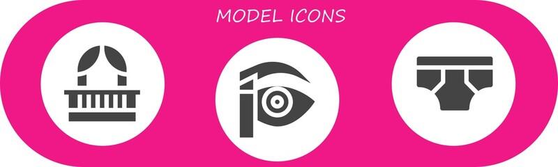 model icon set